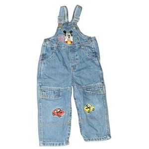 Vintage Mickey & Co   Mickey Mouse Denim Overalls
